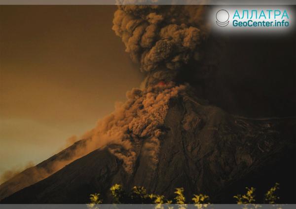 В Гватемале в пятый раз проснулся вулкан Фуэго, ноябрь 2018