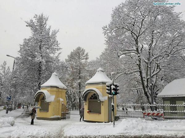 Снегопады в Латвии и Эстонии