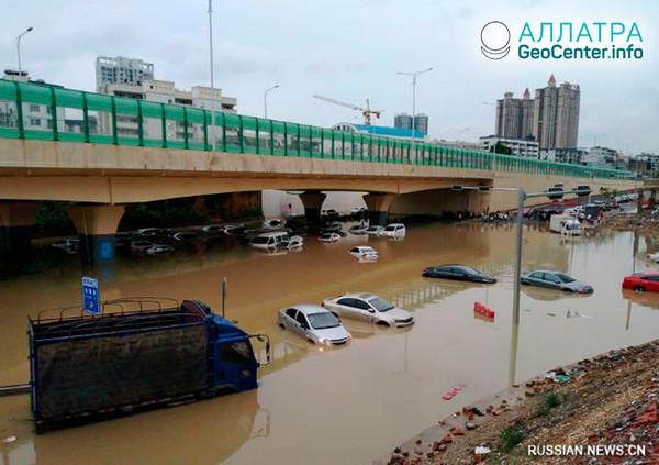 Наводнение в Китае, июнь 2018 г.
