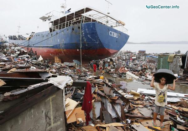 Тропический шторм на Филиппинах