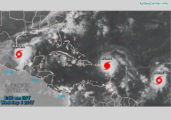 """Тропический шторм """"Катя"""" сформировался в Мексиканском заливе"""