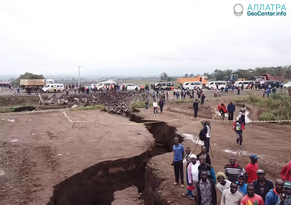Разлом в Африке, апрель 2018 года