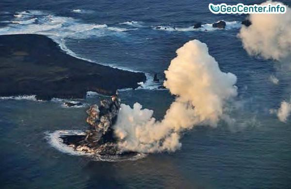 Извержение  подводного вулкана в Японии, июнь 2017 года