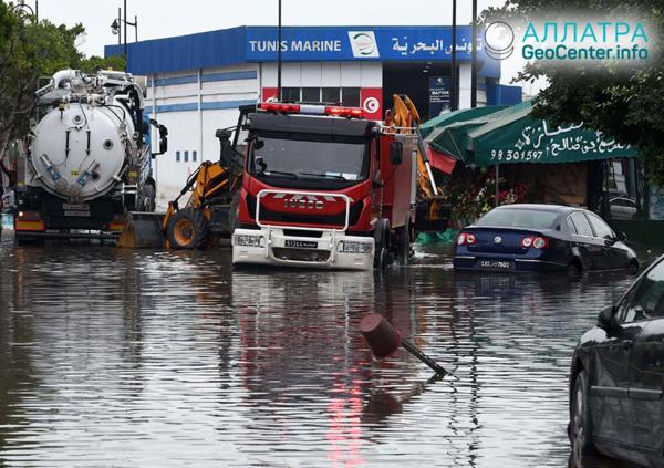Наводнение в Тунисе, октябрь 2018 г.