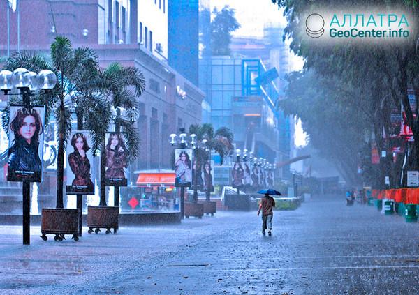 Ливневые дожди в Сингапуре, июнь 2018 г.