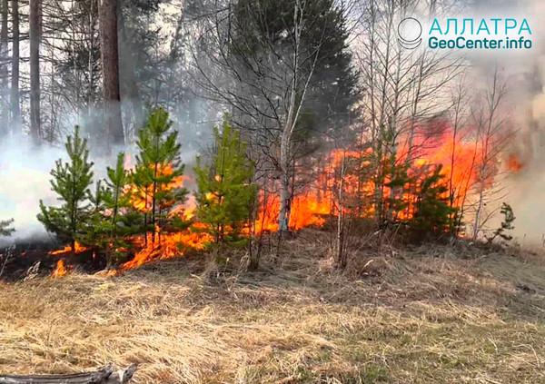 Пожары в Забайкалье, апрель 2018 г.