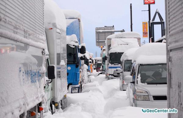 Снег в Японии.Февраль 2018