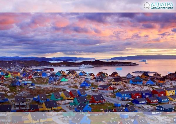 «Тёмная» зона в Гренландии, апрель 2018 г.