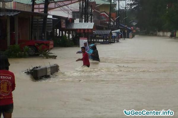Наводнение в Южном Таиланде, январь 2017