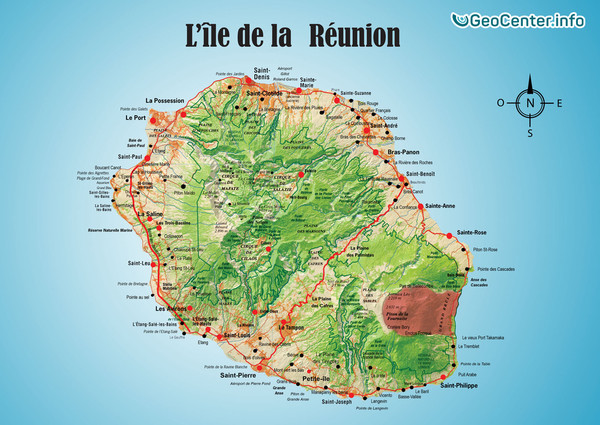 1500 кубометров горной породы обрушились в Реюньоне