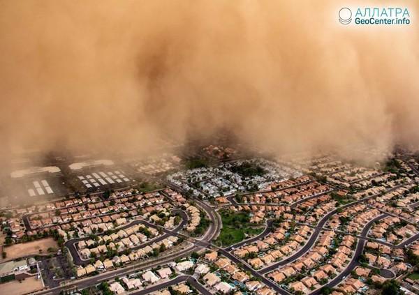 Пыльная буря в Аризоне, фото и видео, август 2018 года