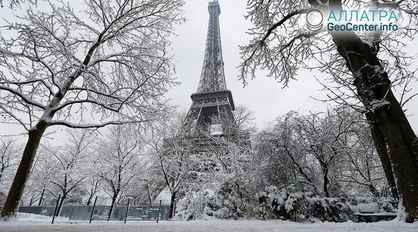 Снегопад на юге Франции, май 2018 г.