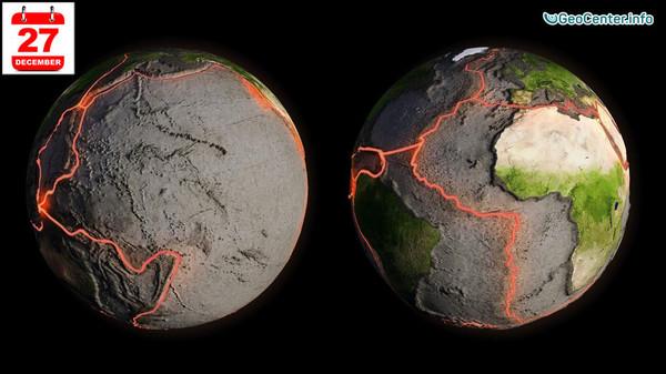Землетрясения, произошедшие 27 декабря, магнитудой свыше 4,5 баллов