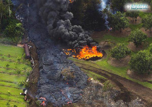 Обзор извержения вулкана Килауэа на Гавайях за 16-21 мая 2018 года