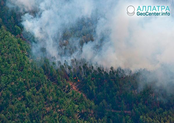 Растет число пожаров на Дальнем Востоке, апрель 2018 г.