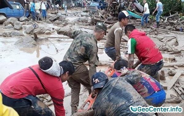 Колумбия: сход оползня в городе Манисалес