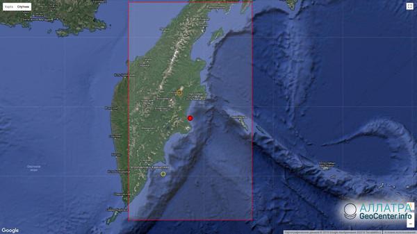 Землетрясение магнитудой 5,4 у побережья Камчатки 23 мая 2018 года