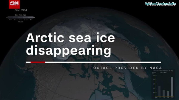 Video from NASA of the Arctic ice disappearing