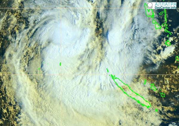 В Коралловом море сформировался тропический циклон «Линда», март 2018 г.
