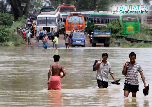 Муссонные дожди в Индии, июль 2018 г.