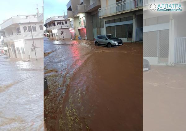 Ливни и наводнения в Греции, июнь 2018 года