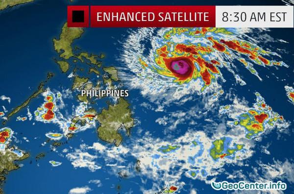 "Тропический шторм  ""НОК-ТЕН"" над Тихим океаном"