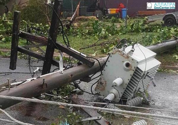 На полуострове Кейп-Йорк 24-25 марта прошел тропический циклон «Нора»