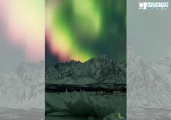 Прекрасное проявление полярных сияний в Норвегии, начало февраля 2018 года