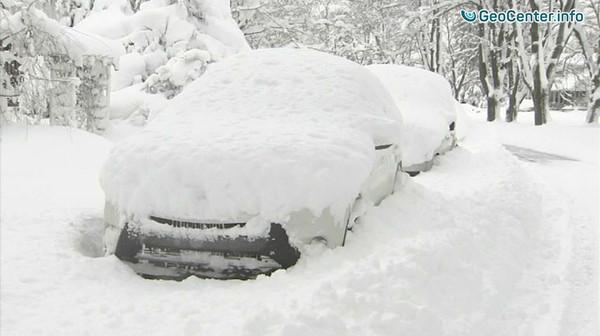 Record snowfall in Erie, Pennsylvania, USA, December 201728