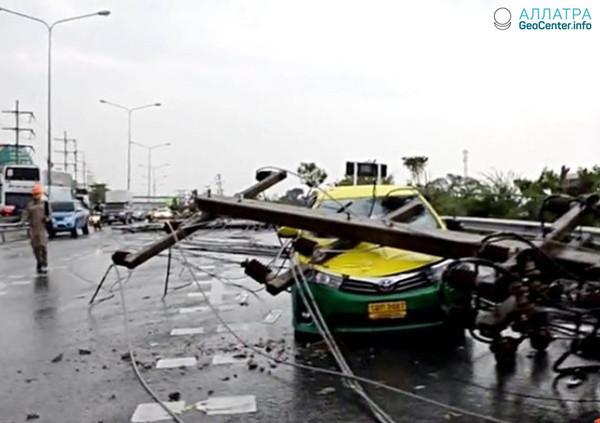В Таиланде, в первой декаде марта прошел сильный шторм