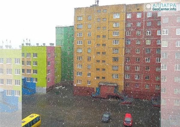 Снег в Норильске в июле 2018 г.