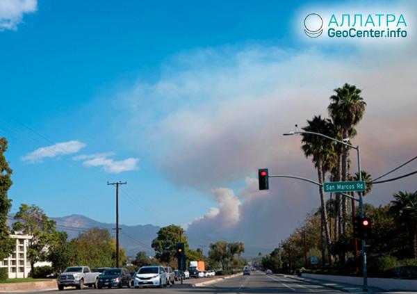 Потушен крупнейший природный пожар «Томас» в Калифорнии, США, июнь 2018