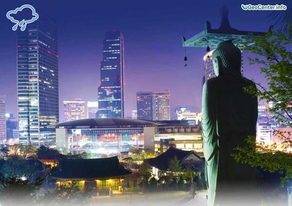 Муссонные дожди в Южной Корее