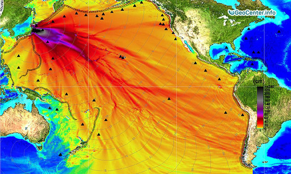 Радиация в Тихом океане.