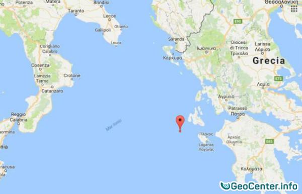 Землетрясение в Ионическом море, февраль 2017