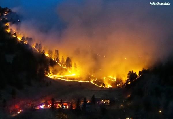 Лесные пожары в Китае, России и США, март 2017 года