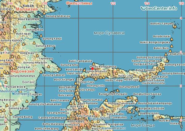 Крупное землетрясение в акватории Сулавеси (Филиппины)