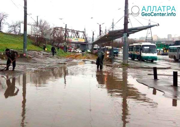 Наводнение во Владивостоке (Россия), ноябрь 2018