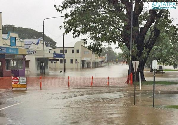 Рекордное повышение уровня воды в реках Квинсленда, март 2018 г.