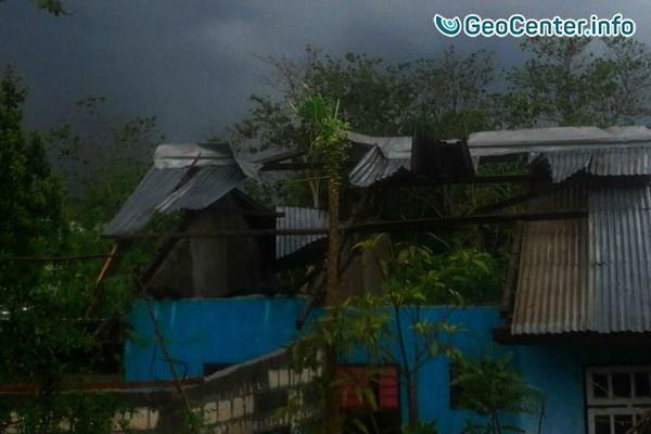 Разрушительный торнадо в Индонезии, ноябрь 2017