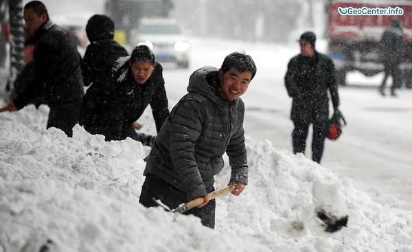 Снегопады на юго-западе Китая
