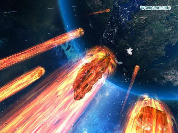 Падение метеорита на Землю. Комета.Астероид