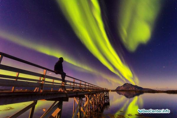 Начался сезон Северного сияния в Норвегии, сентябрь 2017
