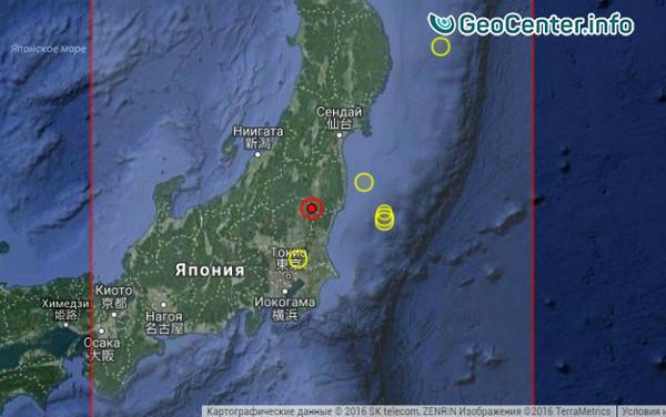 Мощное землетрясение «всколыхнуло» японский остров Хонсю 28 декабря