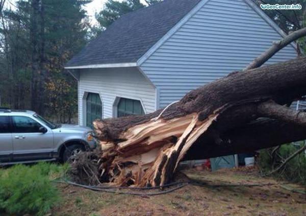 Непогода в Новой Англии, США, 29-30 октября 2017 года