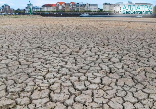 Падение уровня воды в Дунае, октябрь 2018