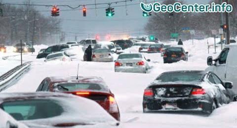 США.Снежный шторм Джексон январь 2018 г