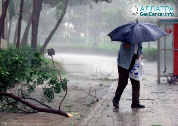 Тайфун в Китае, июль 2018