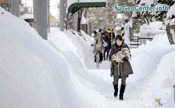 Снегопад в Хоккайдо (Япония) – сильнейший за 50 лет