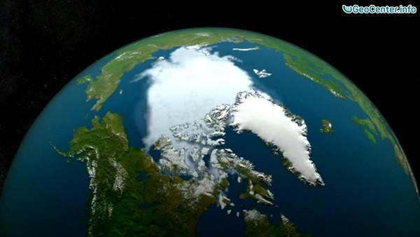 Таяние льдов Арктики за последние 36 лет
